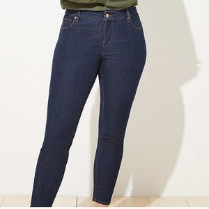 LOFT Plus Dark Wash Modern Straight Jean 20